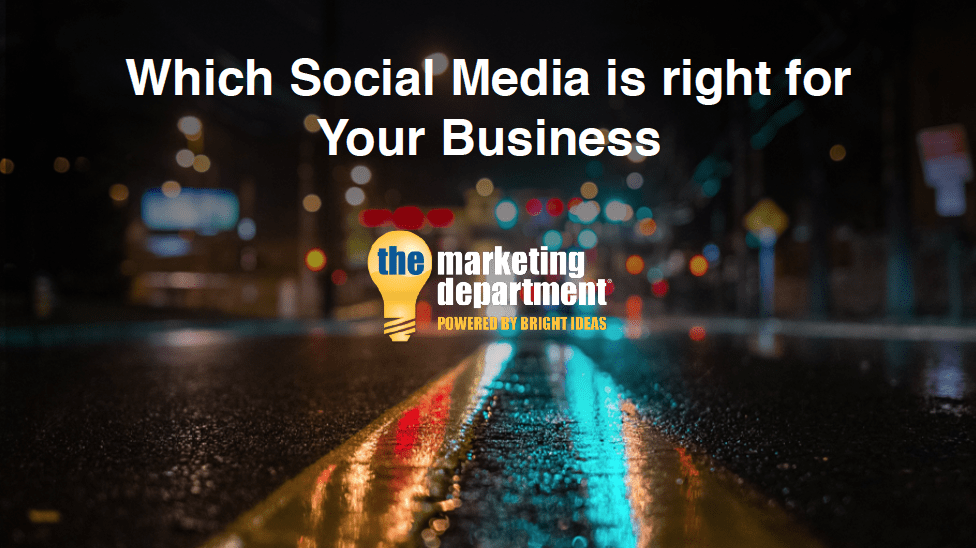 Selecting the Right Social Media For Small Business